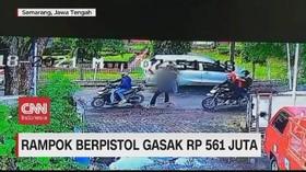 VIDEO: Rampok Berpistol Gasak Uang Rp 561 Juta