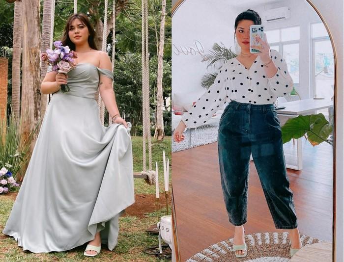 Beauty influencer Sarah Ayu sangat mengutamakan self-love. Ia selalu tampil fashionable di setiap kesempatan. Keseksian tubuhnya yang curvy seringkali ia pamerkan dalam balutan gaun atau atasan off-shoulders yang memperlihatkan kemulusan upper body-nya, seperti foto di atas. Kamu bisa contek, nih, cara Sarah yang sering memakai celana high waist untuk menyiasati bagian perut. (Foto: Instagram/sarahayuh_)