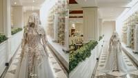 <p>Valda Alviana tampil cantik di pernikahannya. Gaun mewahnya pun mencuri perhatian, Bunda. (Foto: Instagram/ficellephoto)</p>