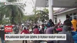 VIDEO: Penjarahan Bantuan Gempa Di Rumah Wabup Mamuju