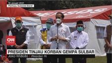 VIDEO: Presiden Jokowi Tinjau Korban Gempa Sulbar