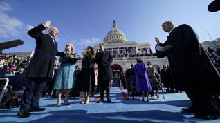 FOTO: Momen Pelantikan Joe Biden dan Kamala Harris