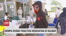 VIDEO: Gempa Rusak Fasilitas Kesehatan di Sulbar