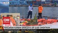 VIDEO: Pencarian Korban Sriwijaya Air SJ182 Dihentikan