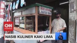 VIDEO: Nasib Kuliner Kaki Lima Imbas Mogoknya Pedagang Daging