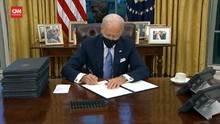 VIDEO: Momen Biden Resmi Berkantor di Gedung Putih
