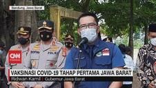 VIDEO: Vaksinasi Covid-19 Tahap Pertama Jawa Barat