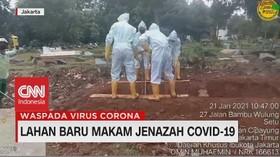 VIDEO: Lahan Baru Makam Jenazah Covid-19