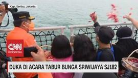 VIDEO: Duka di Acara Tabur bunga Sriwijaya SJ182