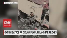 VIDEO: Oknum Satpol PP Diduga Pukul Pelanggar Prokes