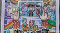 <p>Harapan 3 lomba menggambar: Hanin @antikabisma</p>