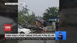 VIDEO: Rumah Rusak & Pohon Tumbang Diterjang Puting Beliung