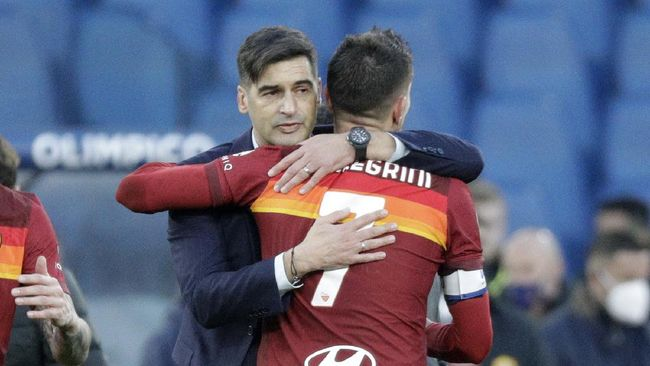 AS Roma berhasil menaklukkan Spezia dengan skor 4-3 di Liga Italia lewat gol Lorenzo Pellegrini di masa injury time.
