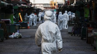 FOTO: Hong Kong Lockdown untuk Pertama Kali Sejak Pandemi