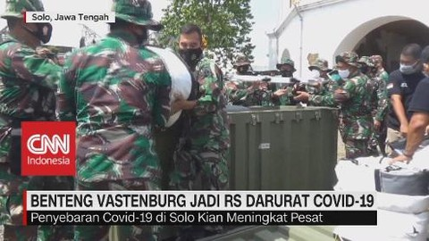 VIDEO: Benteng Vastenburg Jadi RS Darurat Covid-19
