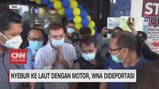 VIDEO: Bule Nyebur Laut untuk Konten Dideportasi