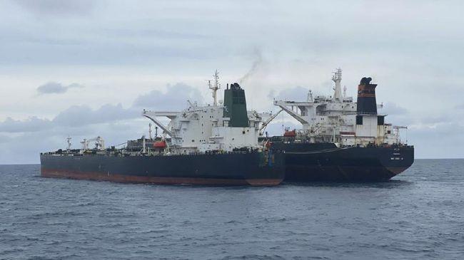 Kapal berbendera Iran yang ditangkap Bakamla, MT Freya, disebut mengaku salah saat tertangkap tangn.