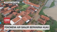 VIDEO: Fenomena Air Banjir Berwarna Hijau