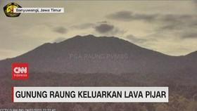 VIDEO: Gunung Raung Keluarkan Lava Pijar