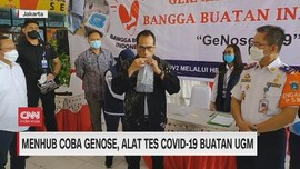 VIDEO: Menhub Coba Genose, Alat Tes Covid-19 Buatan UGM