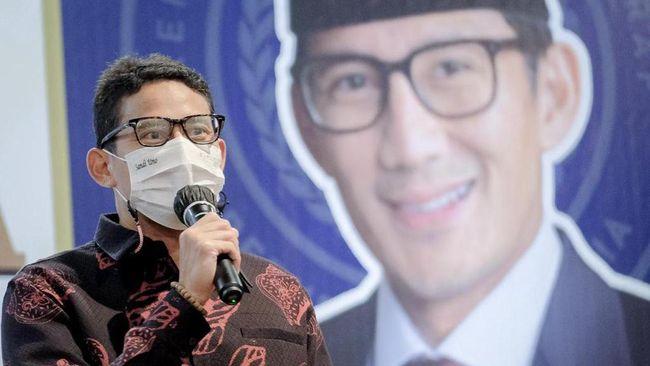 Menparekraf Sandiaga Salahuddin Uno mendorong para pelaku usaha pariwisata dan ekonomi kreatif untuk mendukung kebijakan pemerintah dalam PPKM Level 4.