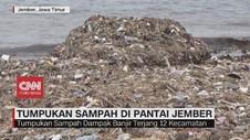 VIDEO: Tumpukan Sampah di Pantai Jember