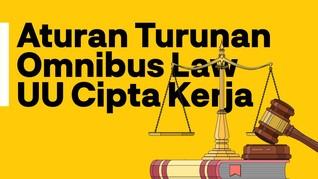 INFOGRAFIS: Aturan Turunan Omnibus Law UU Cipta Kerja