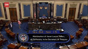VIDEO: Janet Yellen Resmi Jadi Menkeu Wanita Pertama AS