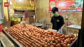 VIDEO: Harga Telur Ayam Di Pasar Kramat Jati Turun