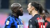 Romelu Lukaku dan Zlatan Ibrahimovic terlibat perkelahian saat Inter Milan vs AC Milan di Coppa Italia.