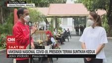 VIDEO: Tanggapan Jokowi Terkait Vaksinasi Covid-19 Kedua