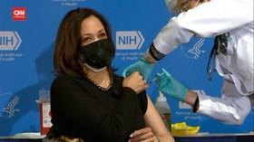 VIDEO: Wapres AS Disuntik Dosis Kedua Vaksin Covid-19