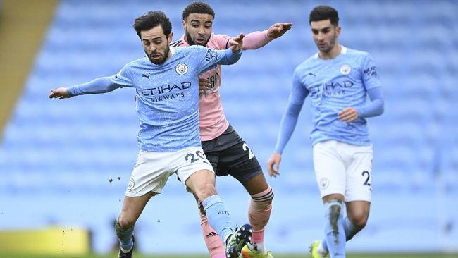Manchester City menang tipis atas Sheffield United dalam lanjutan Liga Inggris di Stadion Etihad, Sabtu (30/1) malam WIB.
