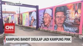 VIDEO: Kampung Bandit Disulap Jadi Kampung Pink