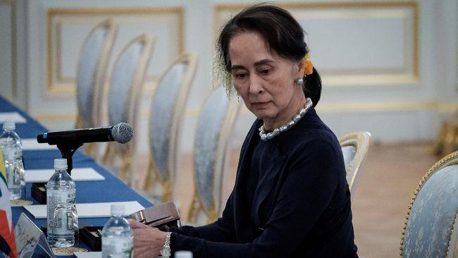 Pemimpin de facto Myanmar, Aung San Suu Kyi, dijdwalkan akan menghadapi persidangan kedua pada hari ini, Senin (1/3).