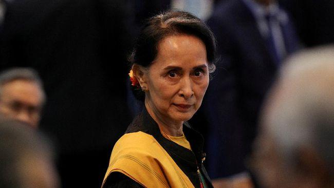 Proses pengadilan kasus perdana pemimpin de facto Myanmar yang dikudeta, Aung San Suu Kyi, akan rampung pada Juli mendatang.