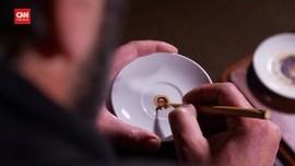 VIDEO: Kreasi Lukisan Miniatur Wajah Dari Kopi