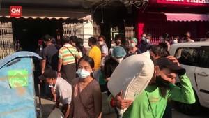 VIDEO: Militer Kudeta Suu Kyi, Warga Yangon Borong Belanjaan