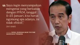 CELOTEH: Lini Masa Pernyataan Jokowi soal Pembatasan Covid