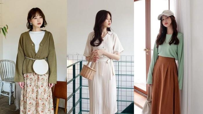 10 Inspirasi Padu Padan Midi Skirt ala Korea, Simple Tapi Stunning!