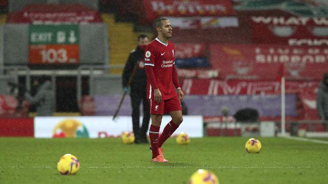 Gelandang asal Spanyol Thiago Alcantara dianggap sebagai biang sial di Liverpool usai kalah 0-1 dari Brighton & Hove Albion.