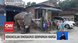 VIDEO: Kemunculan Dinosaurus Gemparkan Warga