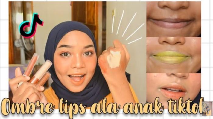 Tren Makeup Ombre Hits ala Tiktok, Pakai Concealer dan Eyeshadow Kuning!