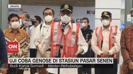 VIDEO: Uji Coba Genose di Stasiun Pasar Senen