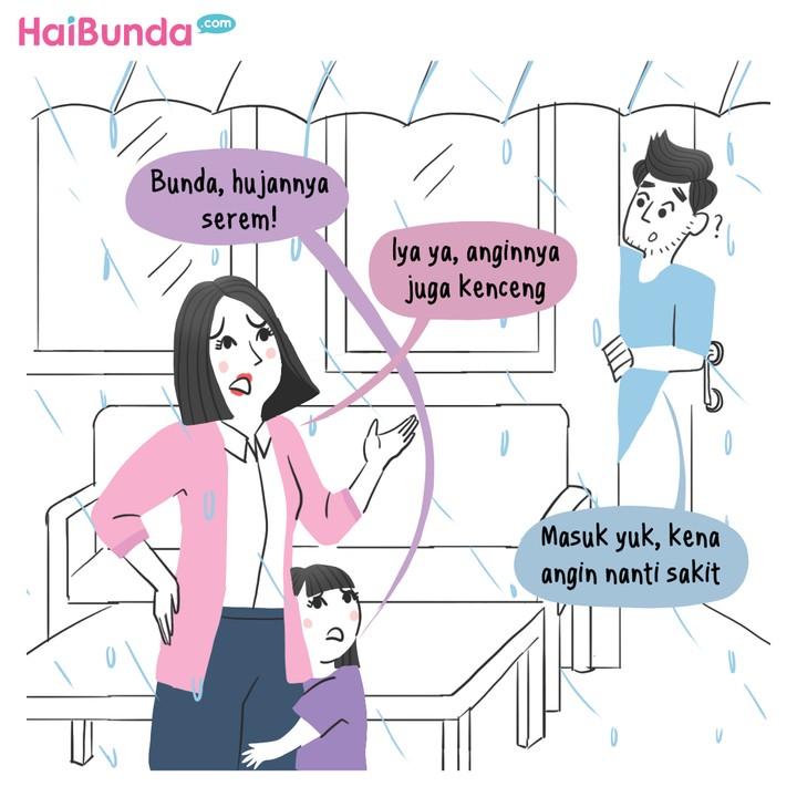 Komik HaiBunda Hujan