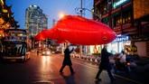 Bermain salju di New York dan persiapan Imlek di Shanghai jadi foto terbaik pilihan CNNIndonesia.com pekan ini dalam Nyalang.