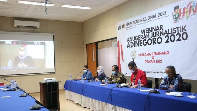 Puncak rangkaian peringatan Hari Pers Nasional digelar Pemprov DKI Jakarta pada 6-9 Februari 2021, berupa pelaksanaan webinar dan Konvensi Nasional Media Massa.