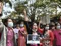 Aksi Protes Suu Kyi Reda, Internet Myanmar Tersambung Lagi