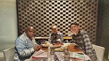 Usai terlibat polemik kasus rasisme, Abu Janda menemui Natalius Pigai di Hotel Fairmont, Jakarta.