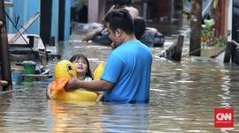 99 RT di Jakarta Tergenang Banjir, 694 Orang Mengungsi